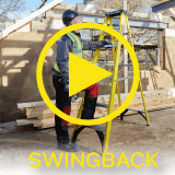 Youngman Fibreglass Swingback Step Ladder Video Play