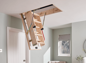 Youngman space-saving loft ladders