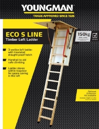 Youngman Eco S Line Timber Loft Ladder Sell Sheet
