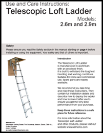 Youngman Telescopic Loft Ladder Use and Care Instructions