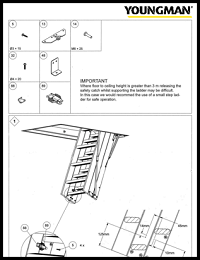 Youngman Timber Loft Ladder Extension Kit Instructions