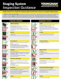 Youngman Inspection Guidance - Staging System