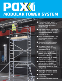 Youngman UK PAXTower Product Leaflet