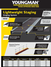 Youngman Lightweight Stagings Product Leaflet