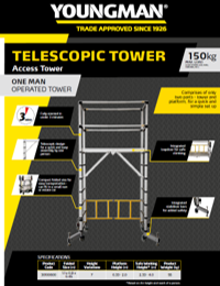 Youngman SellSheet Telescopic Tower - one man operated tower
