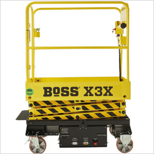 BoSS X-Series Approved sticker on machine gate LH side