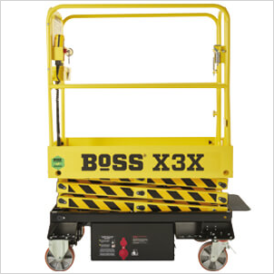 BoSS X-Series Approved sticker on machine gate RH side