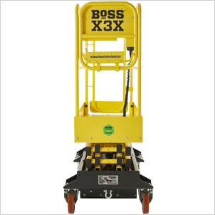 BoSS X-Series Approved sticker on machine non-gate end